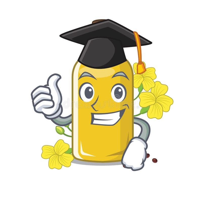 Olio del canola di graduazione nella forma della mascotte illustrazione di stock