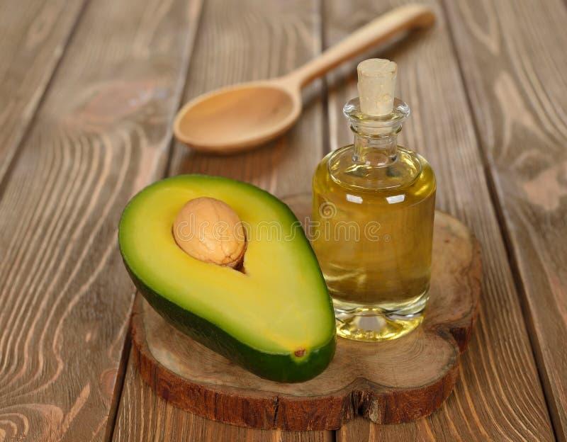 Olio dell'avocado fotografie stock