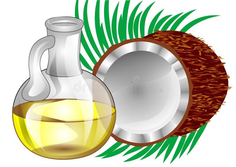Olio di cocco illustrazione vettoriale