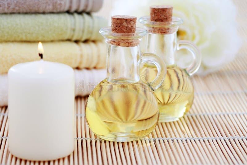 Olio di massaggio fotografia stock