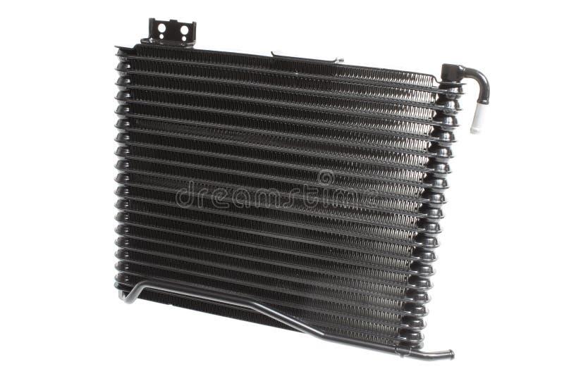 Olio di raffreddamento del radiatore dell'automobile in una trasmissione automatica isolata su fondo bianco fotografia stock libera da diritti