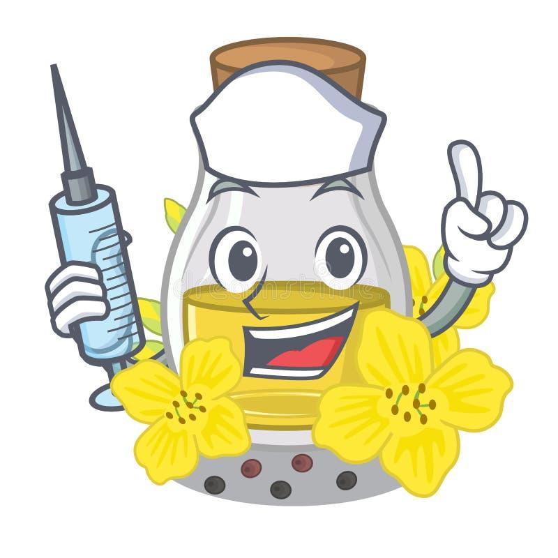 Olio di semi del canola dell'infermiere imballato in bottiglia del cartone royalty illustrazione gratis