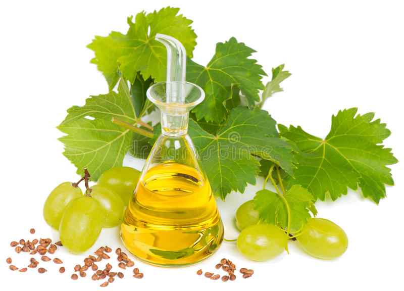Olio di semi dell'uva fotografie stock