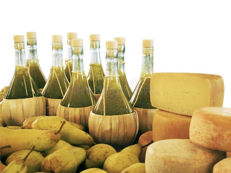 Olio e formaggio di oliva immagine stock libera da diritti
