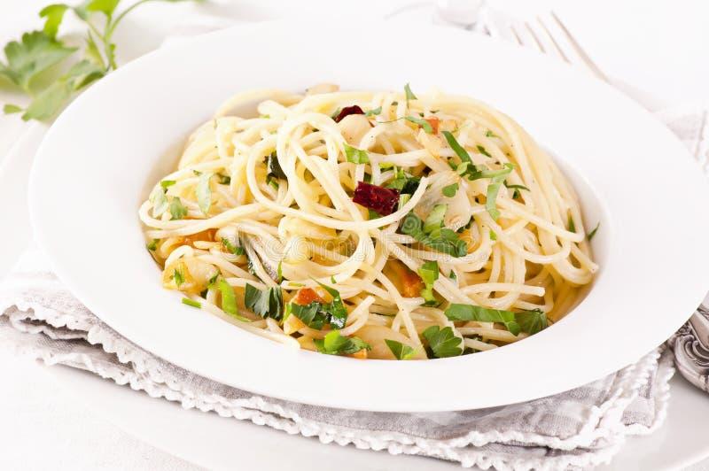 Olio för spagettiaglio e arkivbild