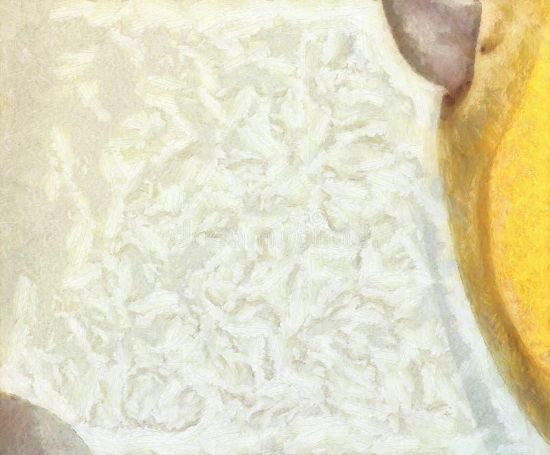 Olio variopinto e fondo dell'acquerello per creare i prodotti unici e decorare le stampe originali Bello modello approssimativo g illustrazione vettoriale