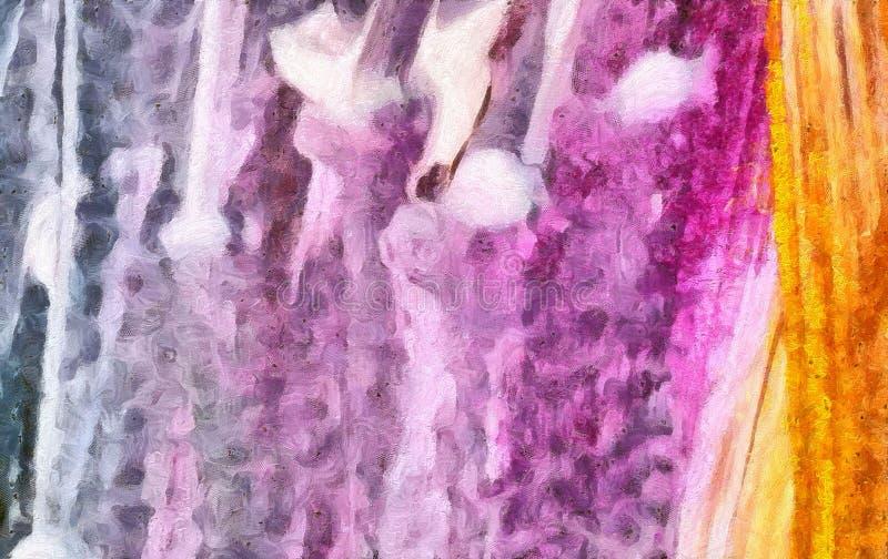 Olio variopinto e fondo dell'acquerello per creare i prodotti unici e decorare le stampe originali Bello modello approssimativo g royalty illustrazione gratis