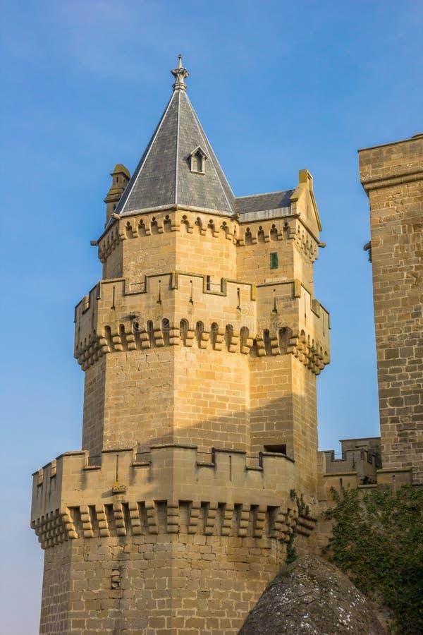 Olite历史城堡的塔  图库摄影