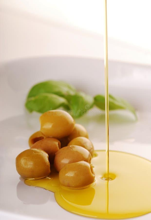 Oliv och olivolja royaltyfria foton