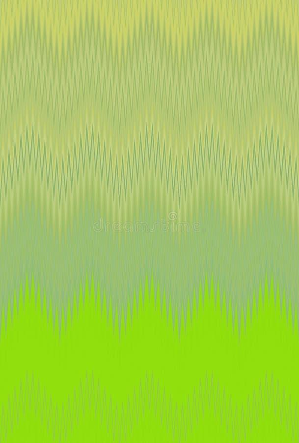 Oliva del fondo del modello di zigzag di Chevron Ornamento bronzeo illustrazione di stock