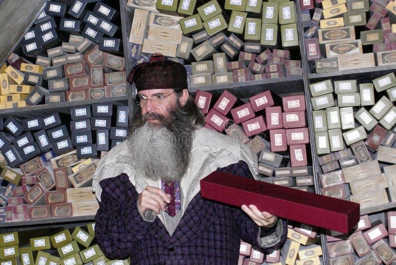 olivander s shoppar wanden arkivbild
