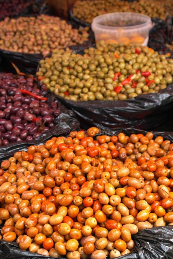 Olive al servizio fotografia stock