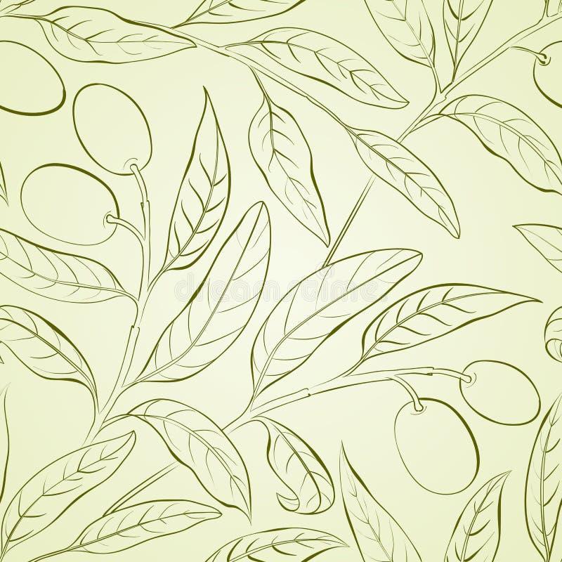 Olive background. Seamless olive background. Vector illustration vector illustration