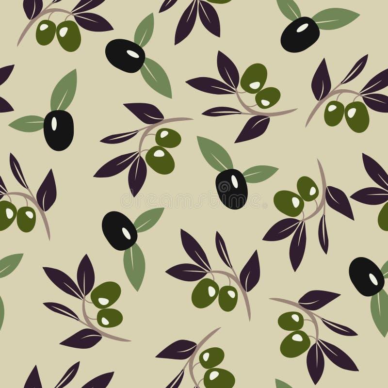 Olive branch background. Vector Olive branch background. Seamless pattern. Vector illustration stock illustration