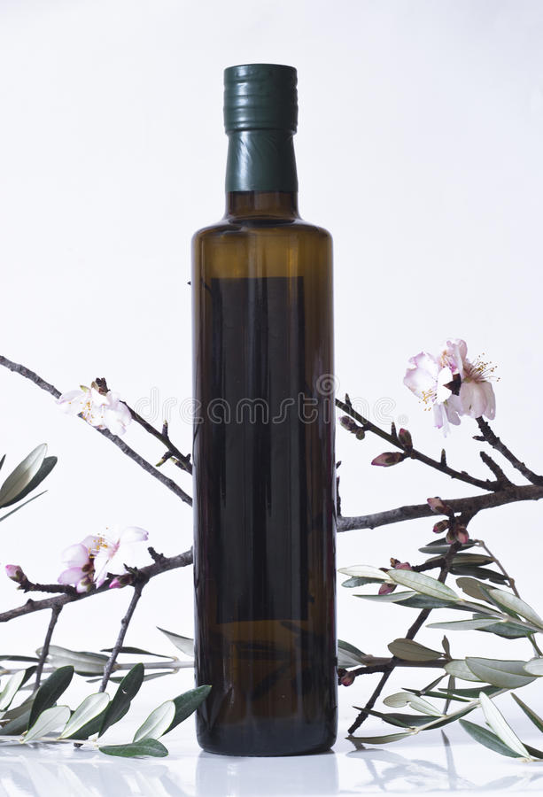 Download Olive Branch And A Bottle Of Olive Oil Stock Photo - Image: 29743890