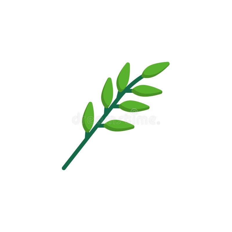 Olive branch flat icon stock illustration