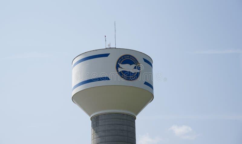 Olive Branch, het Watertoren van de Mississippi stock afbeelding