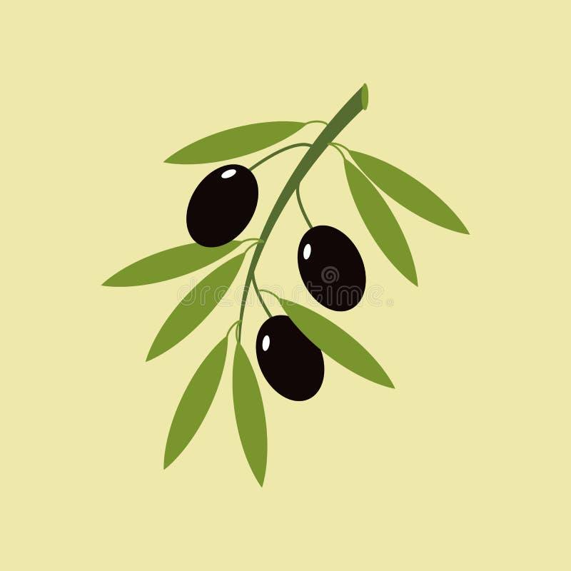 Olive branch icon royalty free illustration