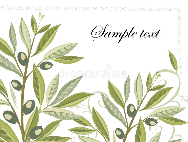 Download Olive Branches In Grunge Style - Easy To Modify Stock Vector - Image: 17107755