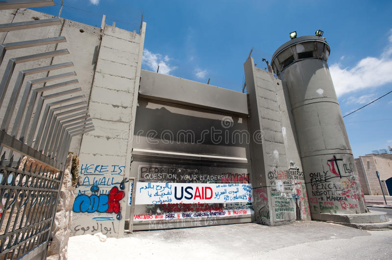 Download Olive Branches And Israeli Separation Barrier Editorial Stock Photo - Image: 15589013