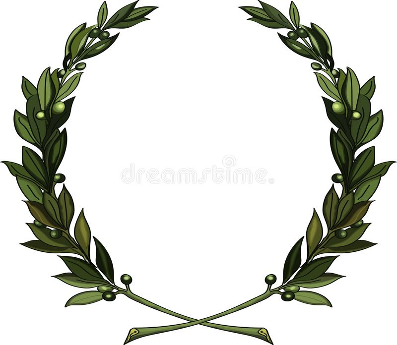 Olive branches wreath royalty free stock photography