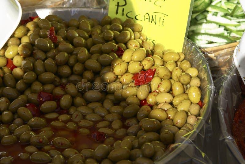 Olive d'épice au marché photographie stock libre de droits