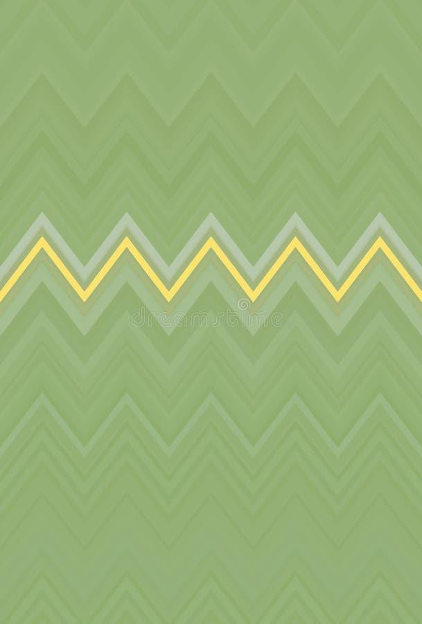 Olive de fond de mod?le de zigzag de Chevron d?cor illustration de vecteur