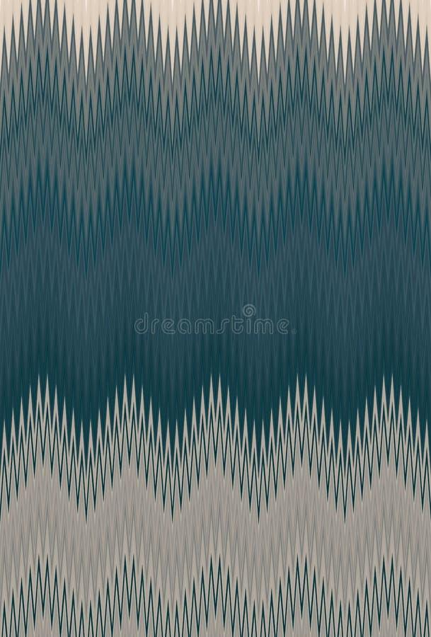 Olive de fond de mod?le de zigzag de Chevron bronze illustration libre de droits