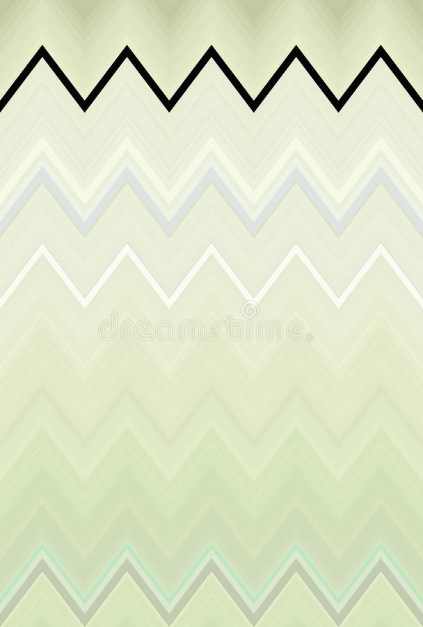 Olive de fond de mod?le de zigzag de Chevron tendances abstraites illustration stock