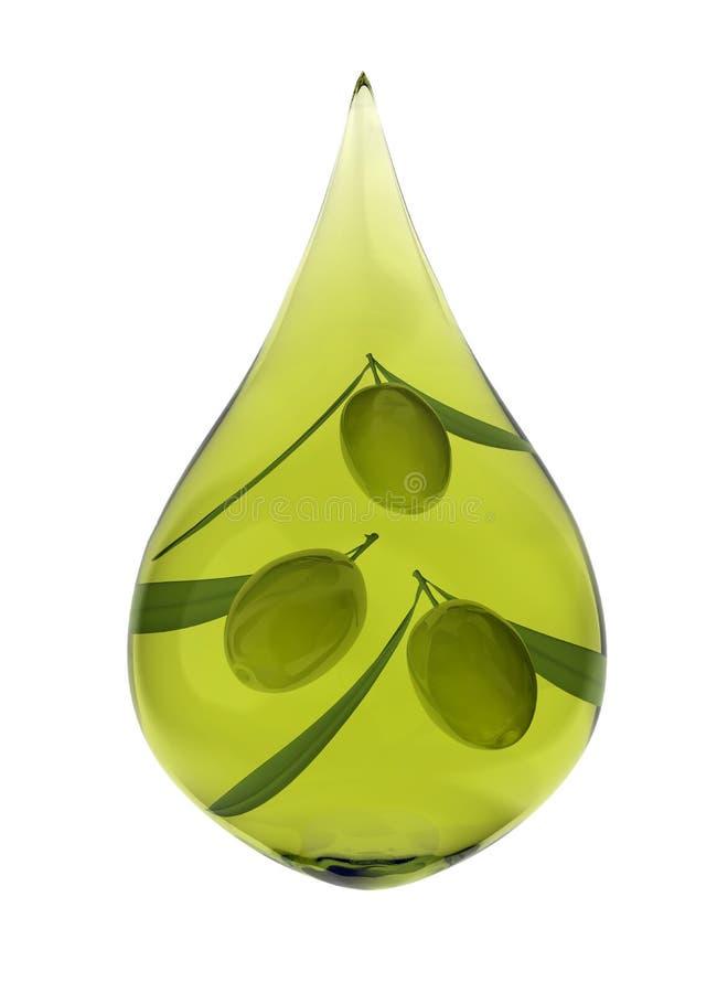 olive de pétrole de baisse illustration stock