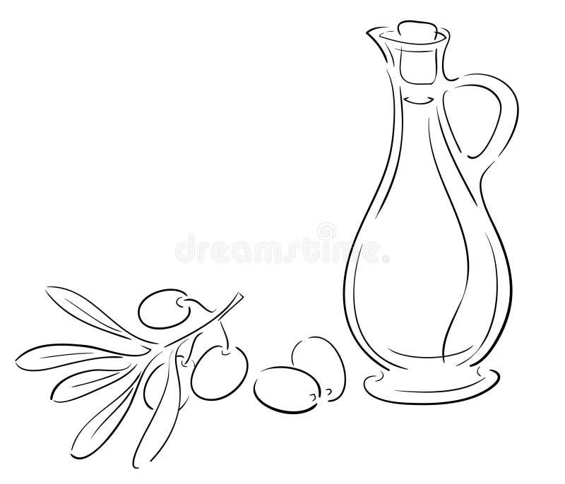 Olive dell'annuncio dell'olio d'oliva fotografie stock libere da diritti
