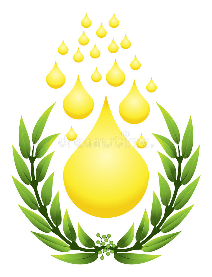 Download Olive with a drop stock illustration. Image of organic - 15950040