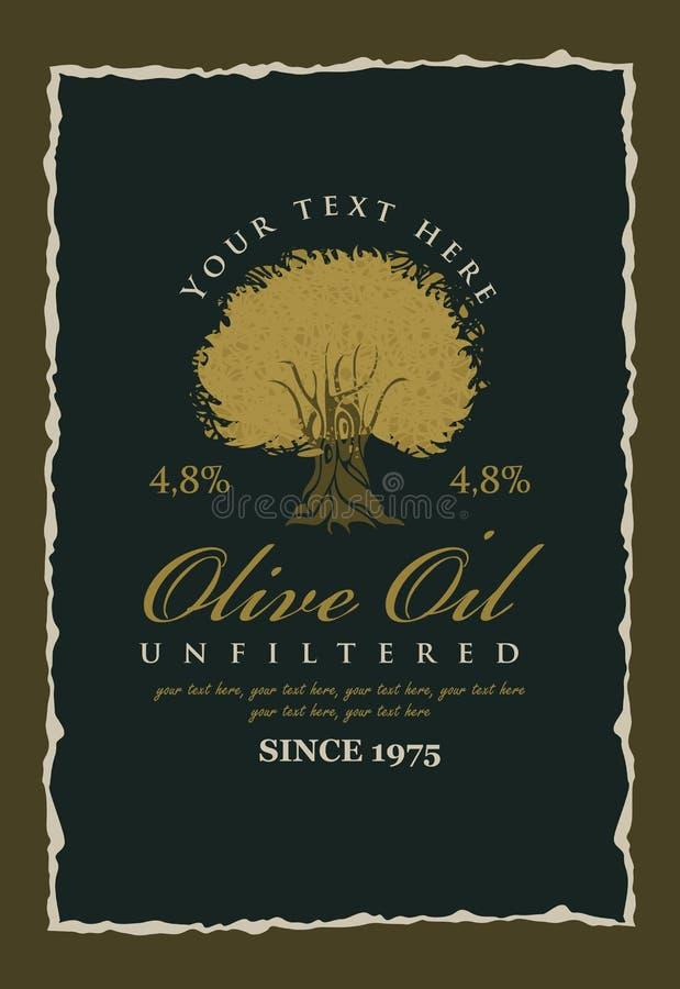 olive etikettoljor royaltyfri illustrationer
