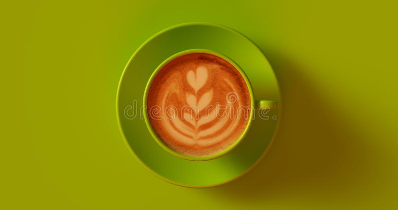 Olive Green Coffee Cup Cappuccino foto de stock royalty free