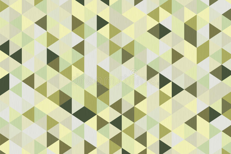 Olive Green Polygon Geometric Background abstrata rendição 3d ilustração royalty free