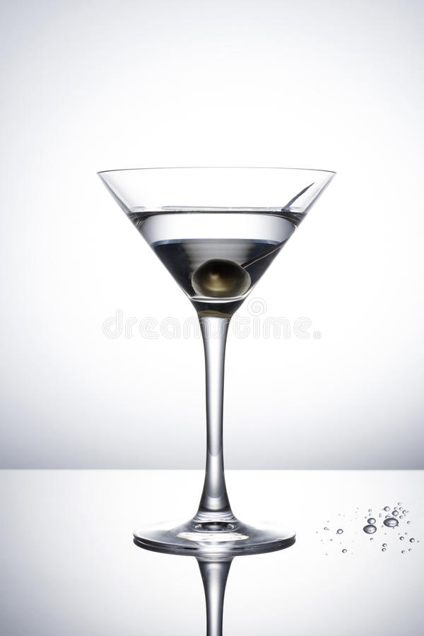 Olive Martini Cocktail stock photography