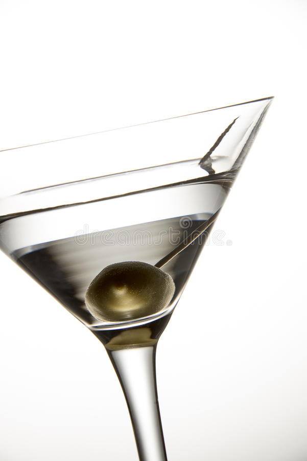 Olive Martini Cocktail royalty free stock image