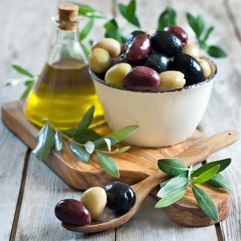 Olive miste fotografia stock libera da diritti