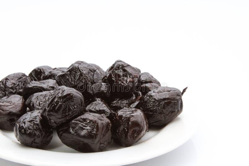 Olive nere asciutte fotografia stock