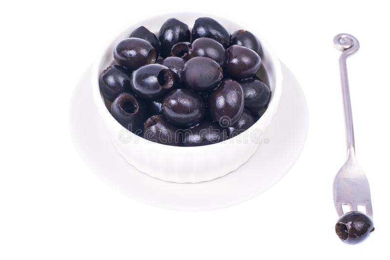 Olive nere senza pozzi fotografia stock libera da diritti