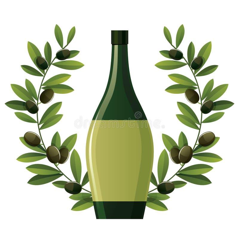 Olive noire illustration de vecteur