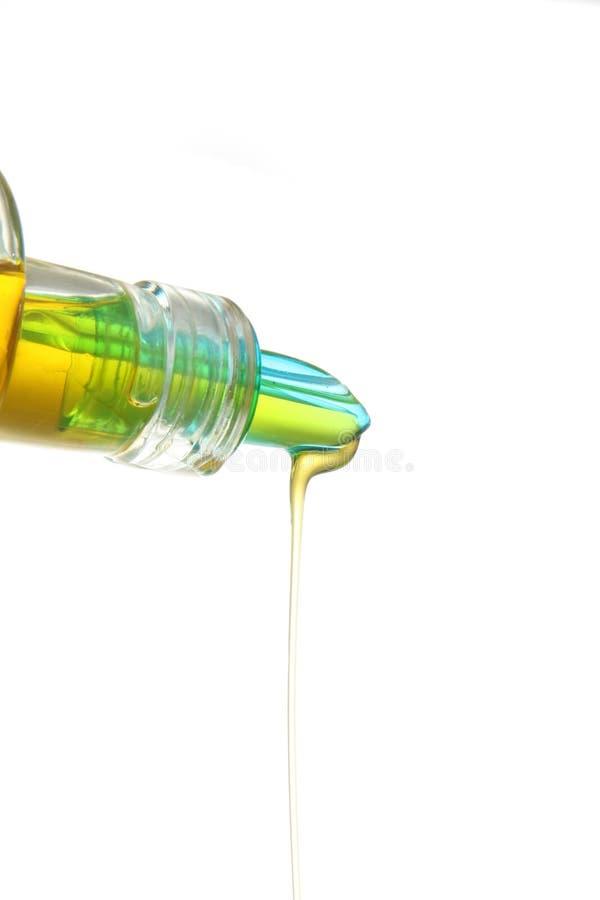 Olive oil. Extra virgin olive oil over white stock photo