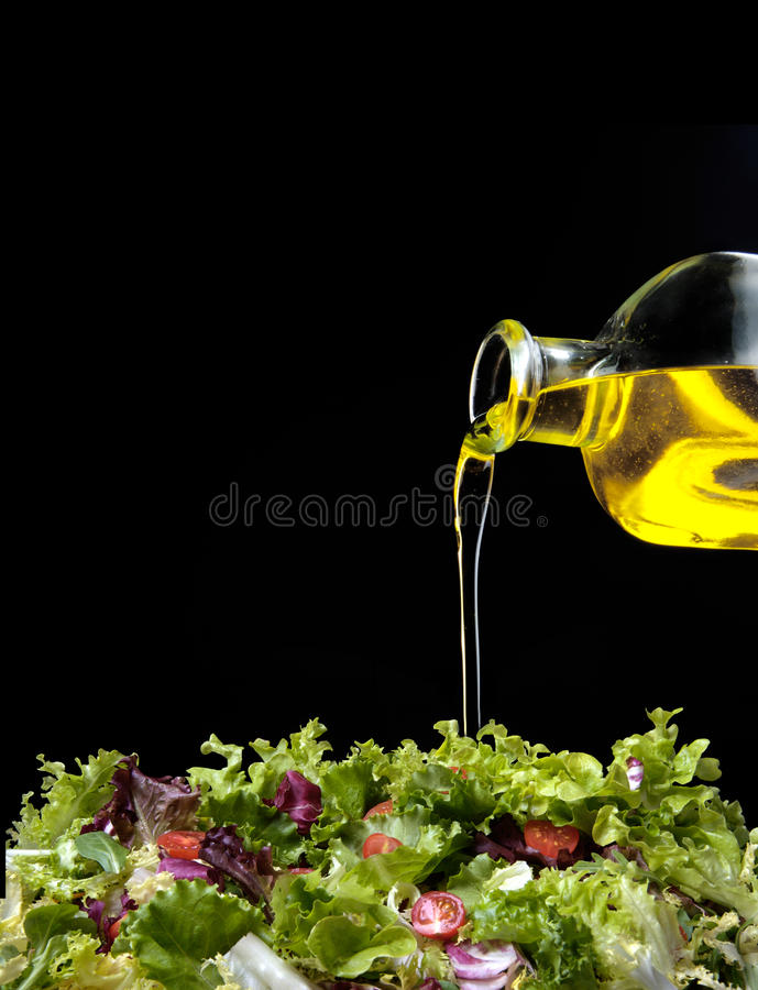 Free Olive Oil And Salad Stock Images - 10376544