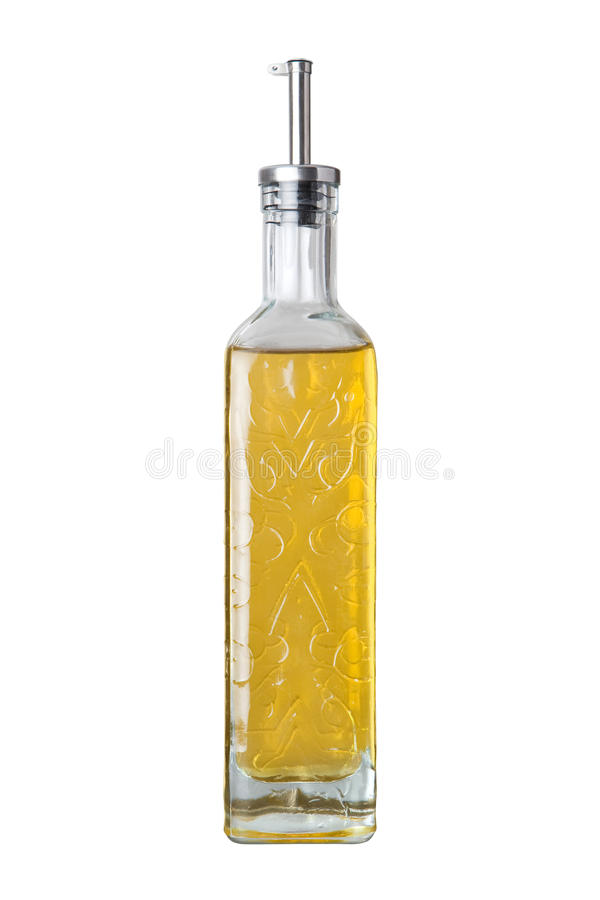 Olive Oil Bottle isolated. On a white background. Isolation is on a transparent layer in the PNG format stock photo