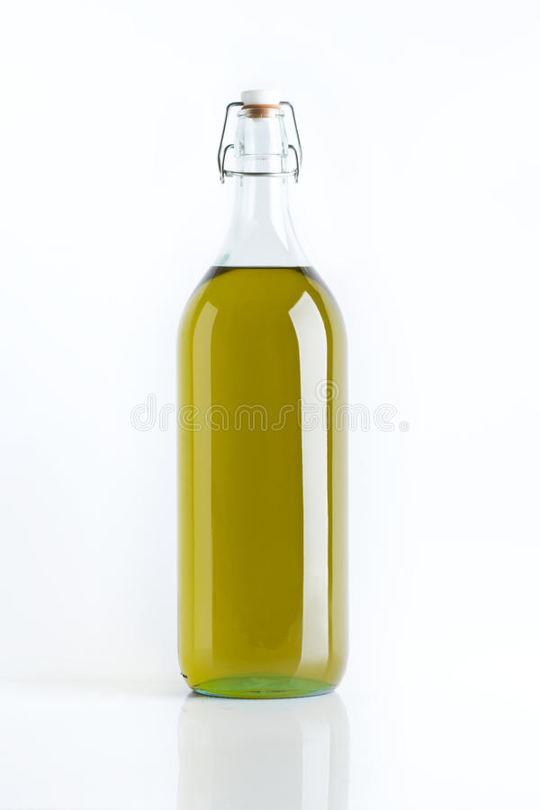 Olive oil bottle stock photos