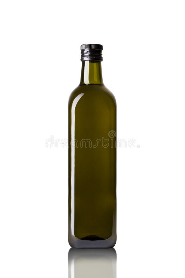 Olive oil bottle. Isolated on white royalty free stock images