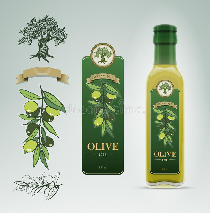 Well known Olive Oil Bottle And Label Design Template. Stock Vector  HC46