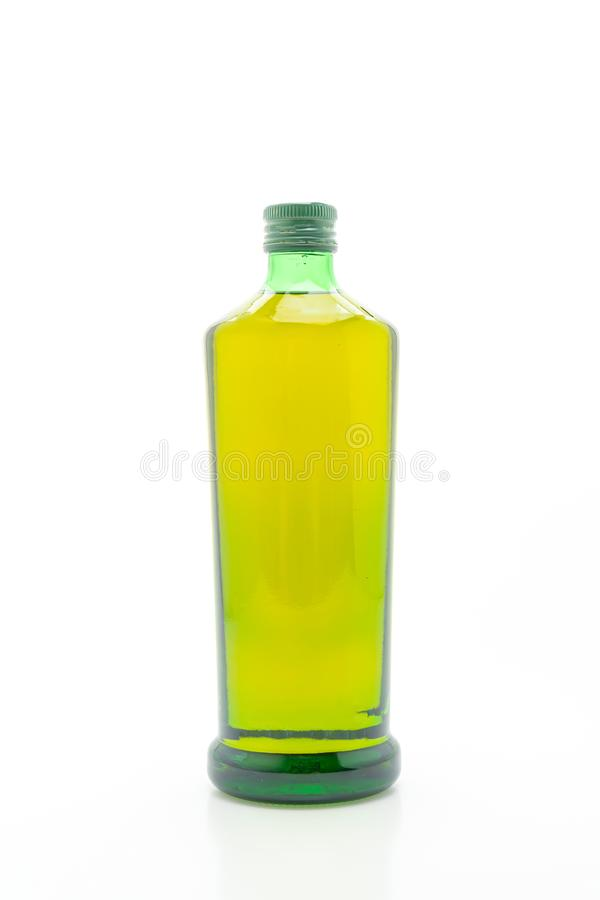 olive oil bottle on white background royalty free stock photography