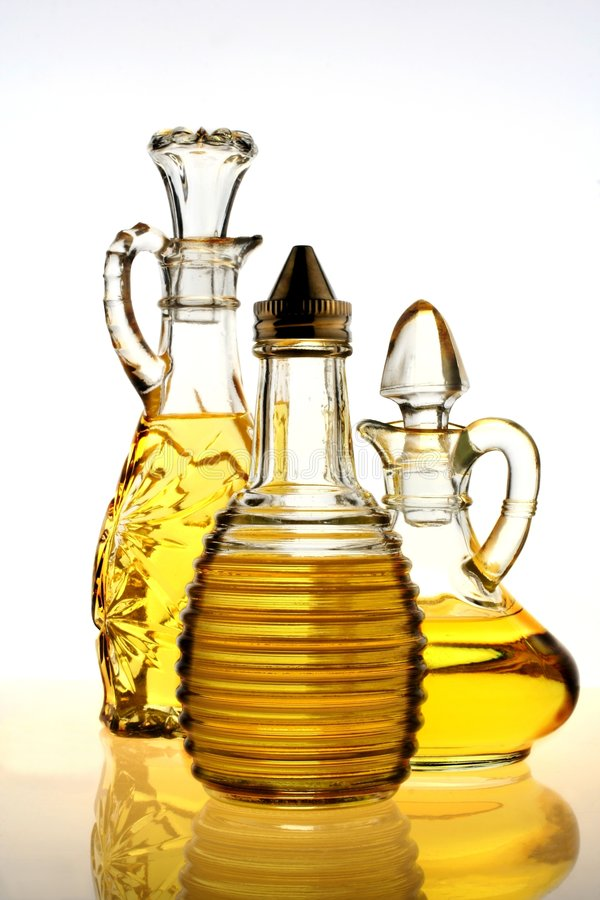 Olive Oil Bottles royalty free stock photo