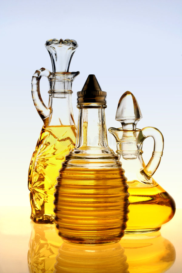 Olive Oil Bottles stock photography